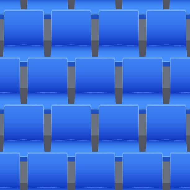 bildbanksillustrationer, clip art samt tecknat material och ikoner med seamless mönster av stadion platser - sittplats