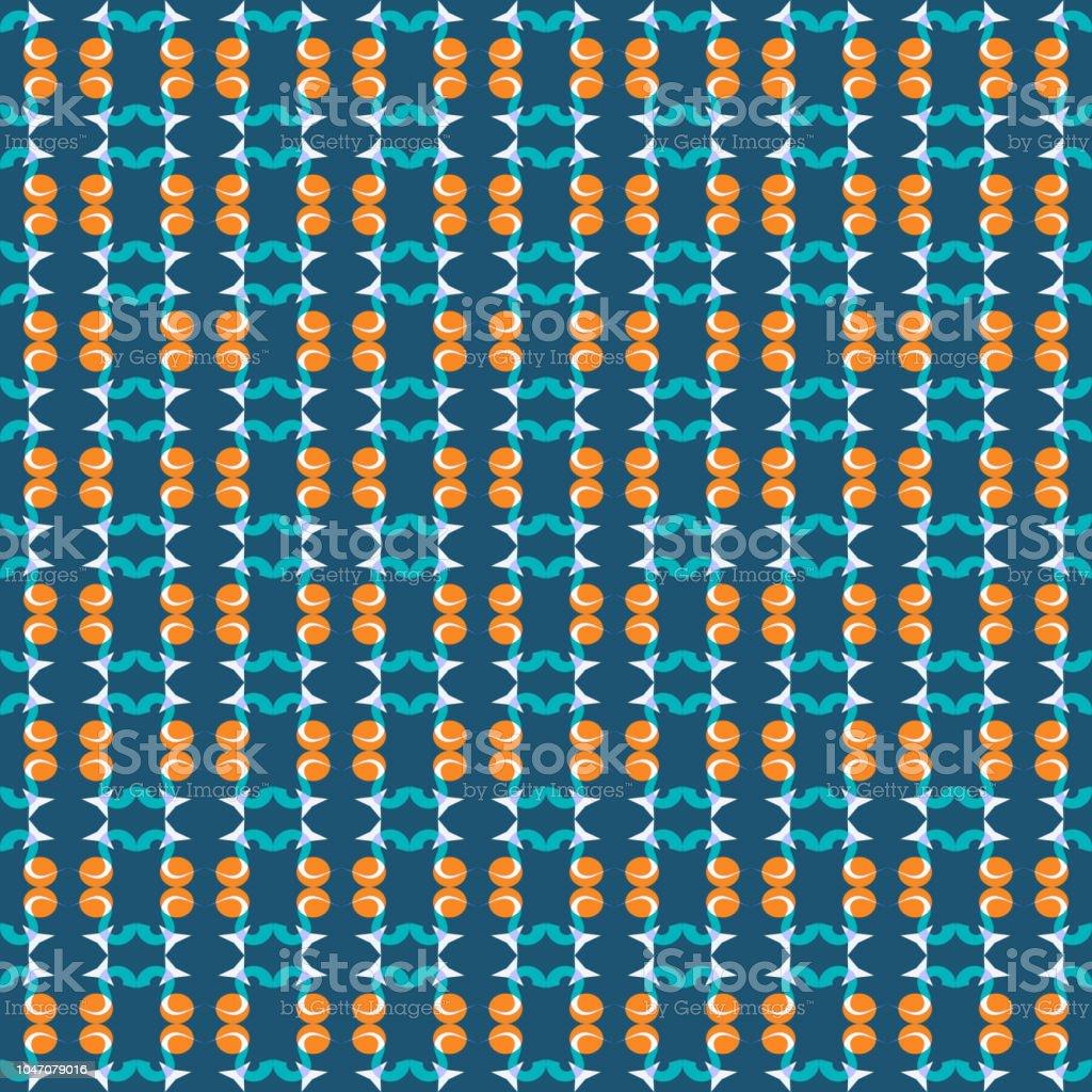 Nahtlose Muster Von Sternen Und Geometrische Formen In Weiss Orange
