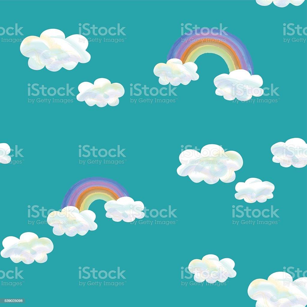 継ぎ目のないパターン晴れた空の ベクターアートイラスト