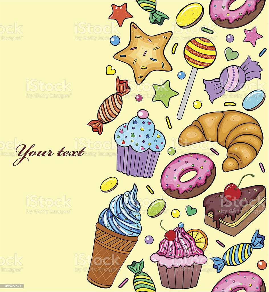 seamless pattern of sweets royalty-free stock vector art
