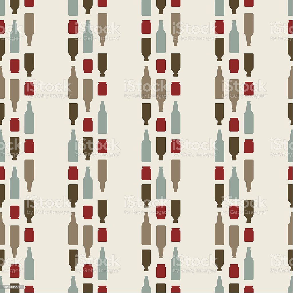 Seamless Pattern Of The Bottles vector art illustration