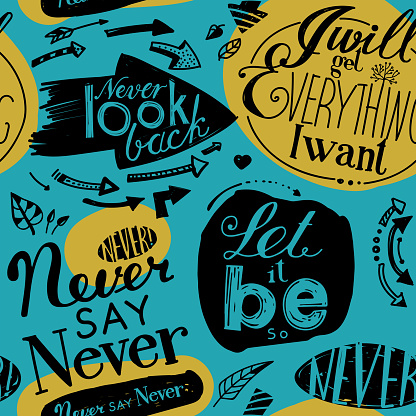 Seamless pattern of the letterings