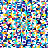 Seamless pattern of triangles. Isometric geometric texture.
