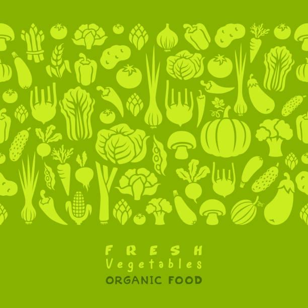 Seamless pattern of vegetables. vector art illustration