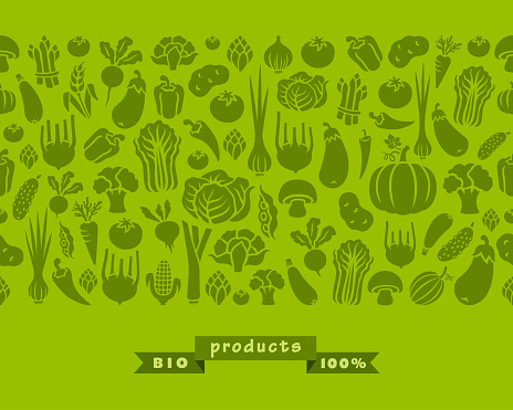 Seamless pattern of vegetables.