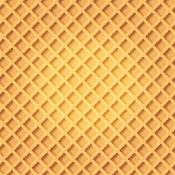 seamless pattern of wafer - ワッフル点のイラスト素材/クリップアート素材/マンガ素材/アイコン素材