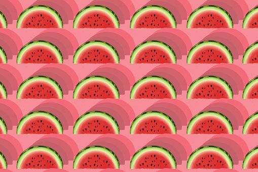 Seamless pattern of watermelon