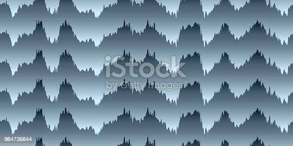 Seamless Pattern Of Wavy Lines Stock Vector Art & More Images of Abstract 964736644