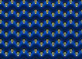 Seamless pattern of yellow lanterns