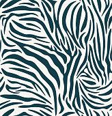 istock Seamless pattern of zebra texture background elements. 1267282752