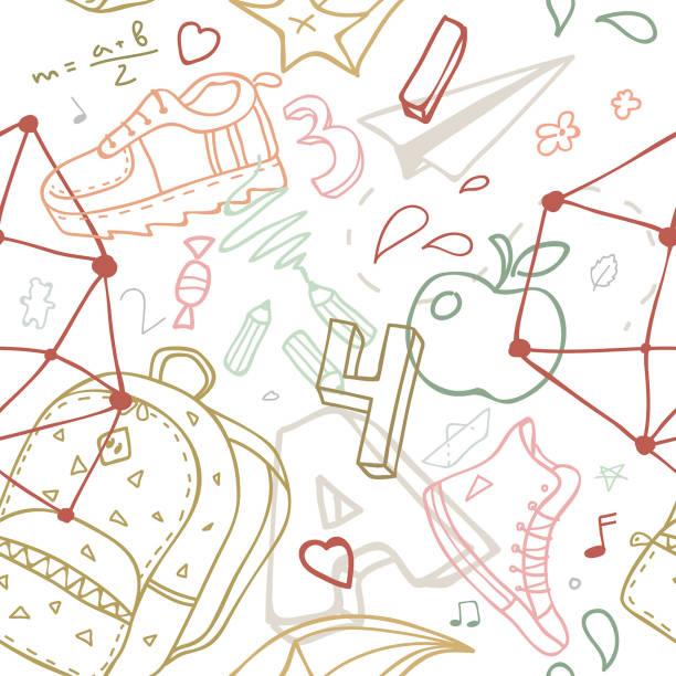 学校をテーマにシームレス パターン。 - 数学の授業点のイラスト素材/クリップアート素材/マンガ素材/アイコン素材