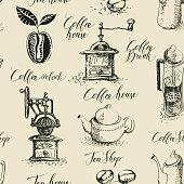 istock seamless pattern on the tea and coffee theme 1318478217