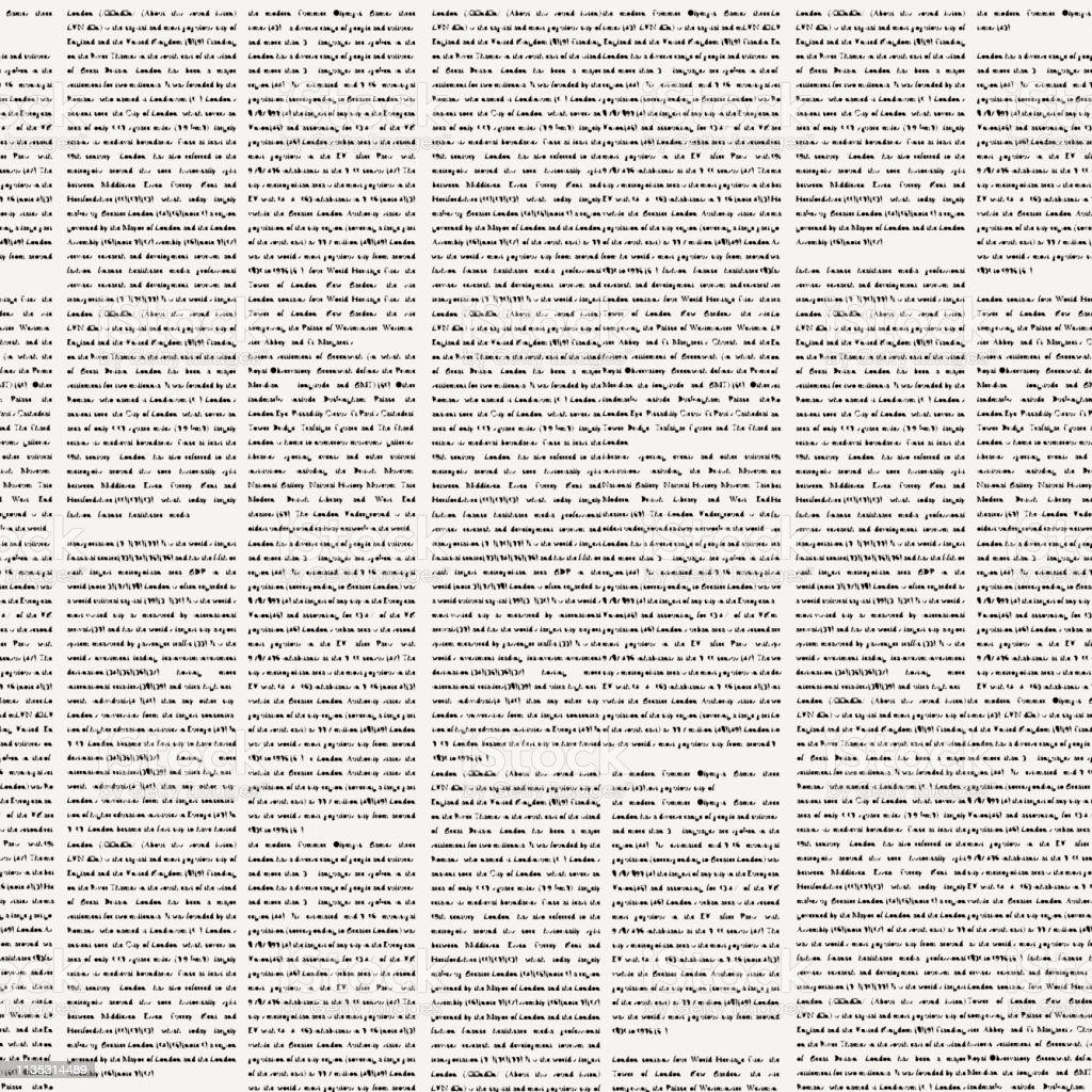 patrón sin fisuras sobre el tema de los periódicos ilustración de patrón sin fisuras sobre el tema de los periódicos y más vectores libres de derechos de abierto libre de derechos