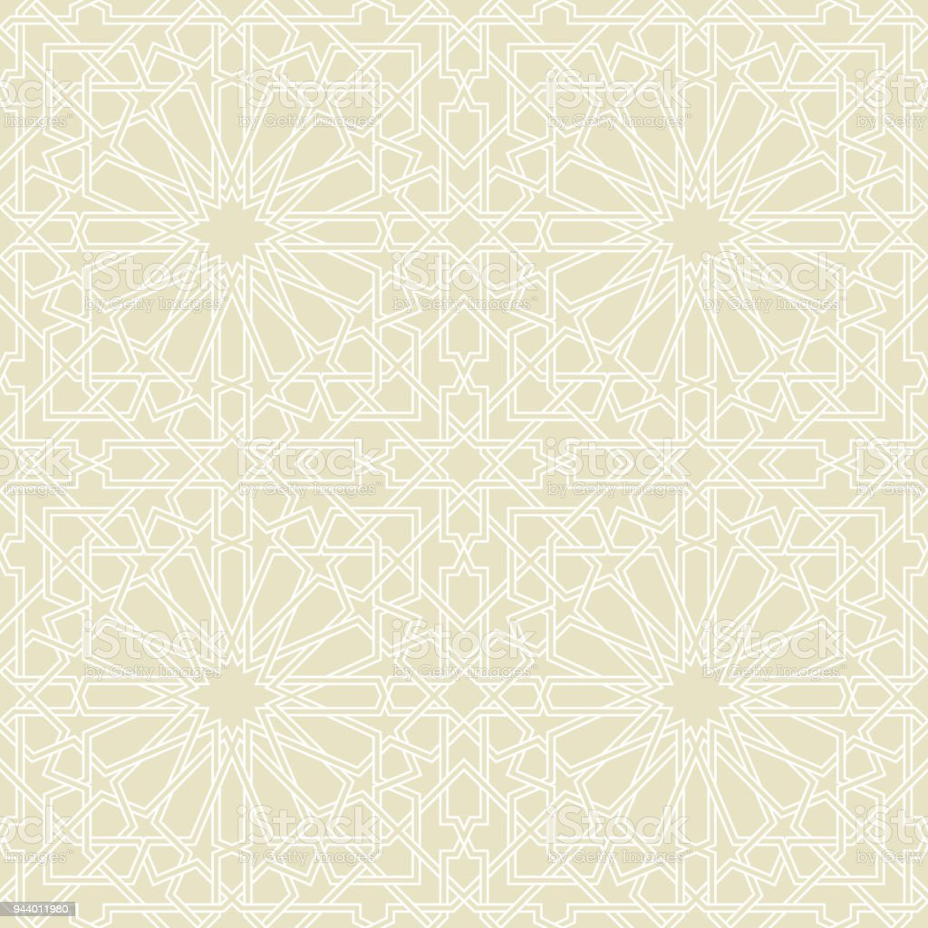 Seamless Pattern Or Islamic Background With Geometric Style Stock ...