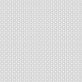 Seamless pattern. Original linear techno texture with repeating thin cross lines. Abstract geometrical square background. Business line art. Vector.