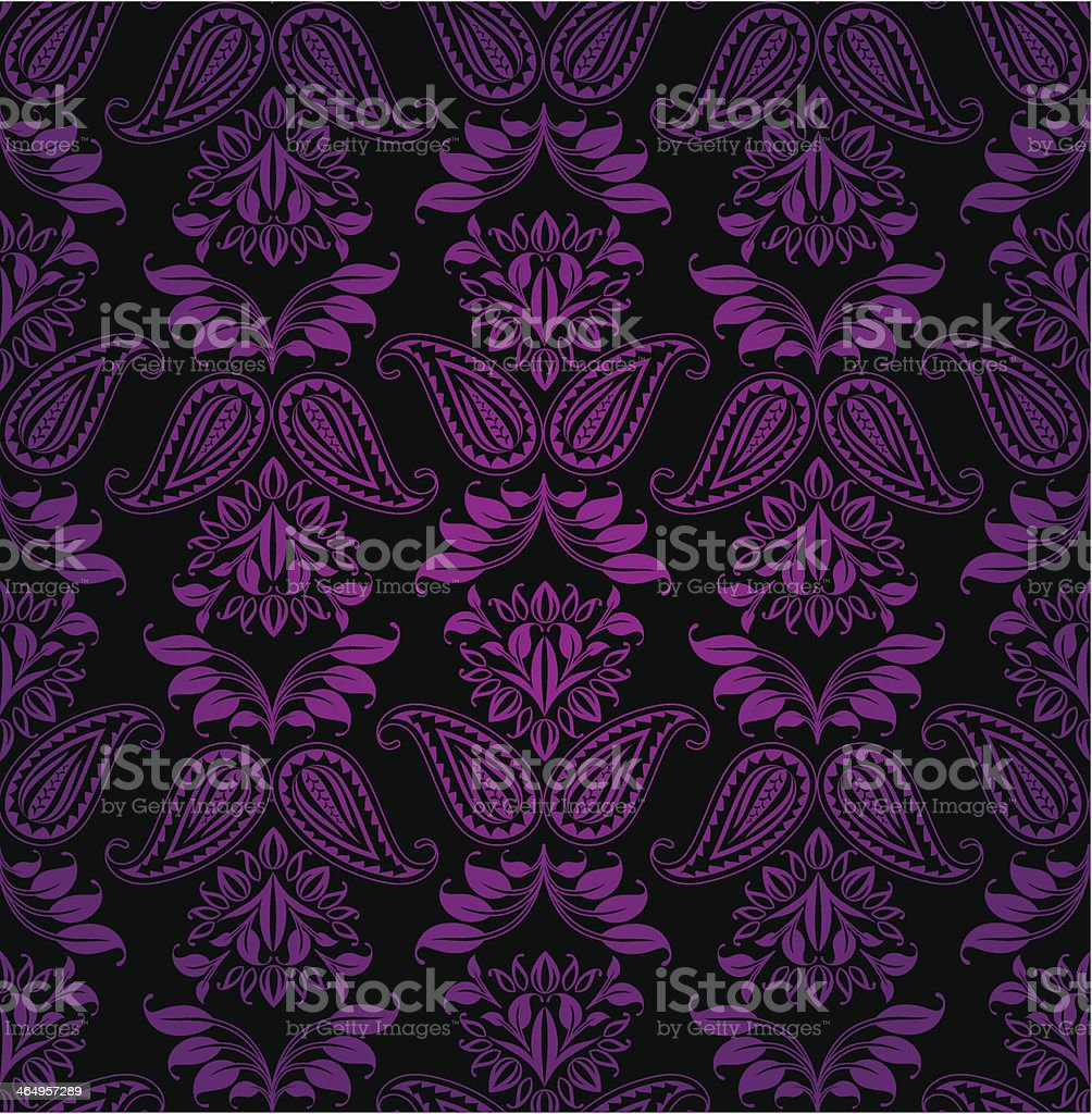 Seamless pattern, ornament lilac floral, decorative background