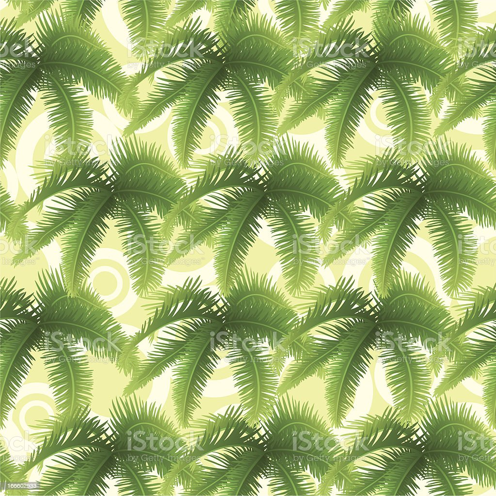 Seamless pattern, palm leaves royalty-free stock vector art