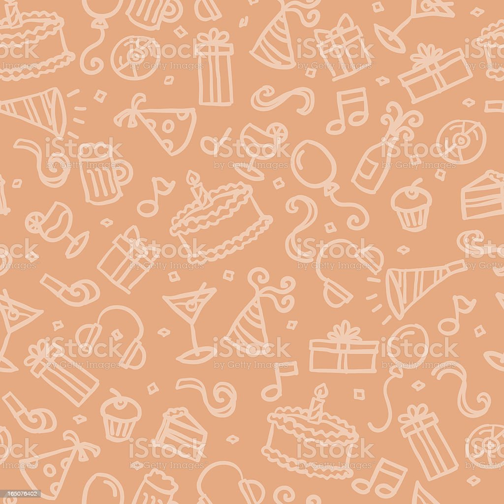 seamless pattern: party vector art illustration