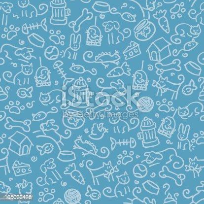 istock seamless pattern: pets 165066428