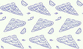 Vector seamless pattern in sketch