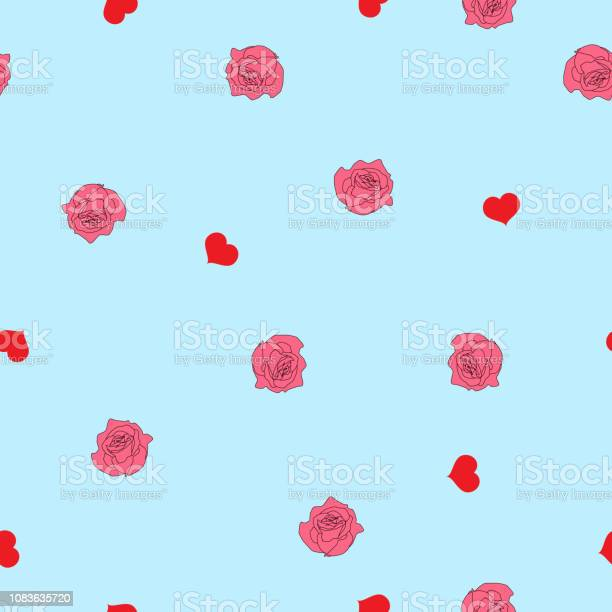 Seamless pattern red hearts and pink roses on blue vector eps 10 vector id1083635720?b=1&k=6&m=1083635720&s=612x612&h=y5nese0tjbznwf3hyb6lamh9czpxebzety ab2p1tik=