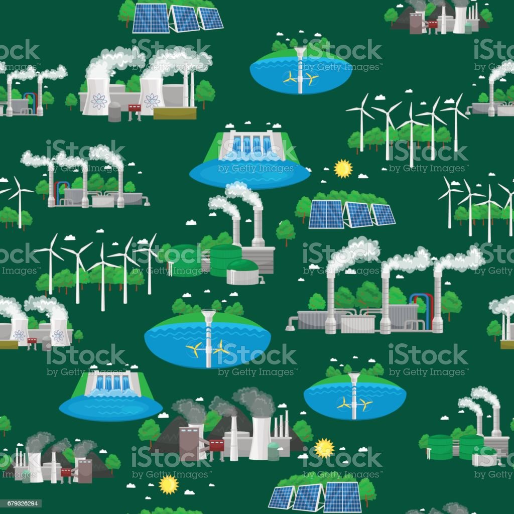 Seamless pattern renewable ecology energy, green city power alternative resources concept, environment save new technology, solar and wind electricity vector illustration background royalty-free seamless pattern renewable ecology energy green city power alternative resources concept environment save new technology solar and wind electricity vector illustration background stock vector art & more images of alternative energy