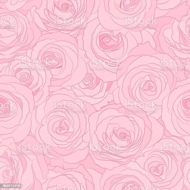 Seamless pattern roses vector floral illustration nature background vector id963474416?b=1&k=6&m=963474416&s=612x612&h=dwfatdnc7dzz2lf9rycdqffnfbddzunp2usjhs8g8ek=
