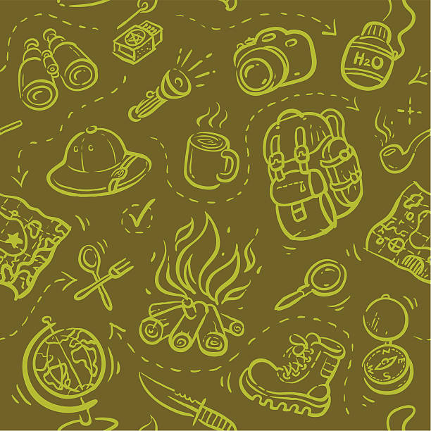 Seamless pattern Safari Seamless vector illustration. Easy to use adventure patterns stock illustrations