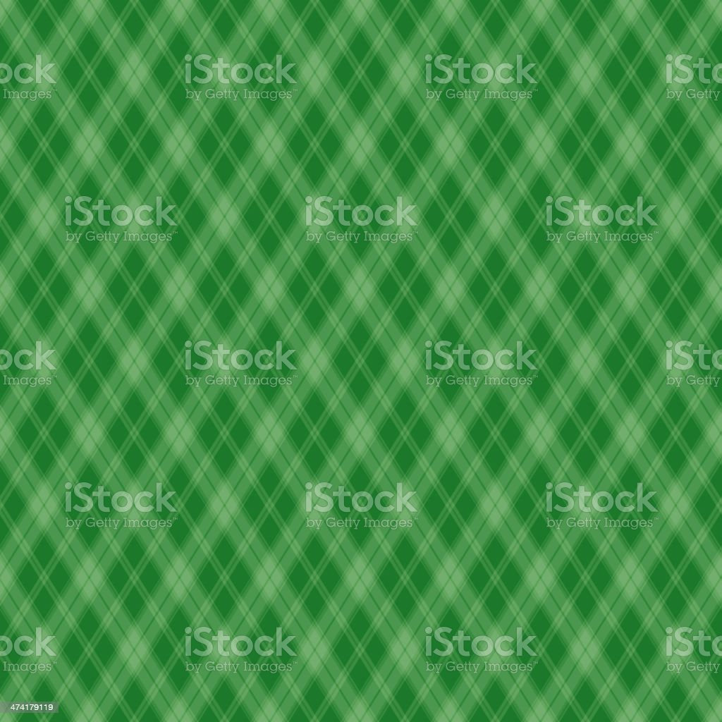 Seamless pattern Scottish green cage vector art illustration