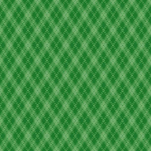 Seamless pattern Scottish green cage Vector illustration  irish culture stock illustrations
