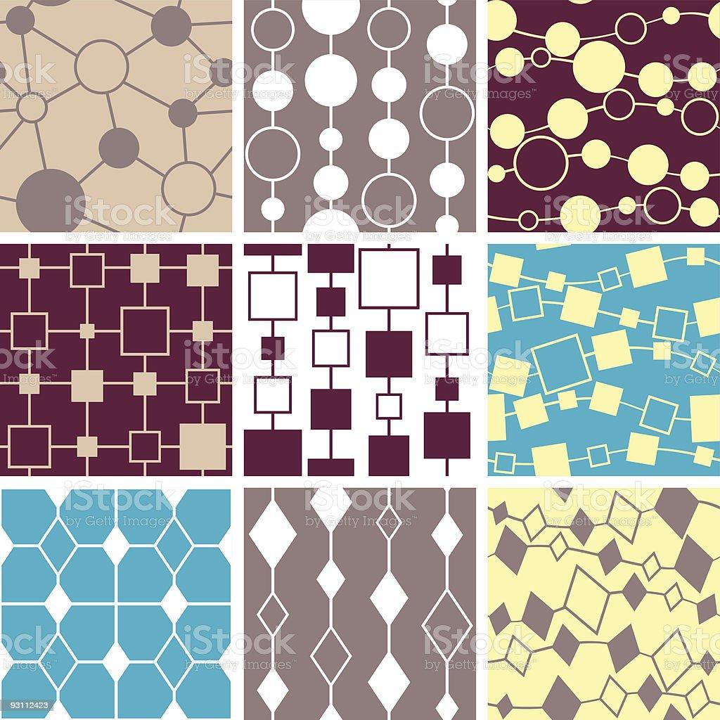Seamless pattern set - link - Royalty-free Arka planlar Vector Art