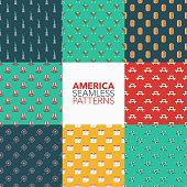 USA Seamless Pattern Set