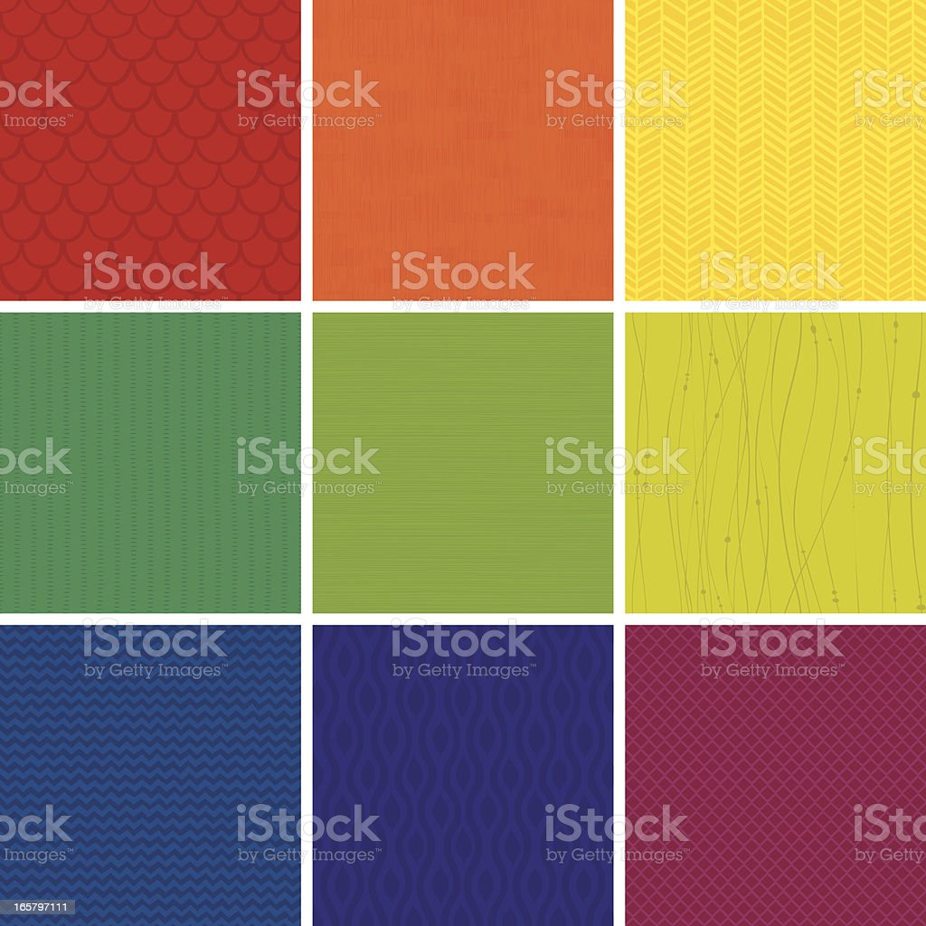 Seamless Pattern set vector art illustration