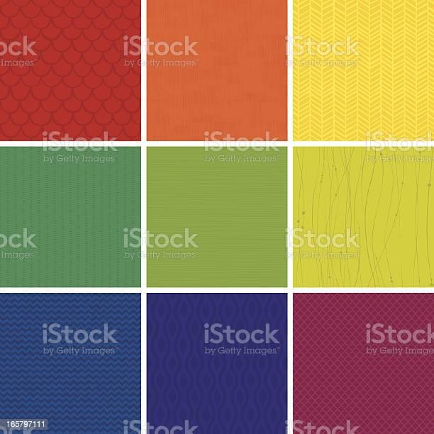 Seamless Pattern Set Stock Illustration - Download Image Now