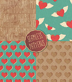 A collection of 4 seamless patterns. EPS10 vector illustration, global colors, easy to modify.