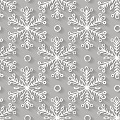 Seamless pattern, snowflakes. 3D, snow, winter, Happy New Year, Merry Christmas, winter. Vector