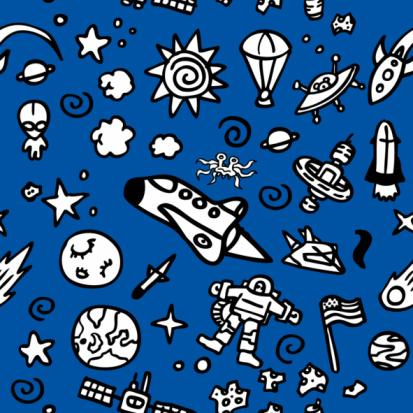 Seamless Pattern: Space
