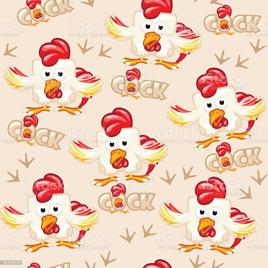 Seamless pattern square cartoon cock seamless pattern square cartoon cock – cliparts vectoriels et plus d'images de agriculture libre de droits