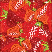 seamless wallpaper for holiday packages featuring berries and strawberry fruit