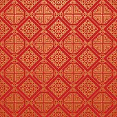 Asia, modern texture, geometric tiles, wallpaper seamless pattern, background in retro style for your design placard, book, cover, design poster, invitation, wallpaper for wall, vector illustration