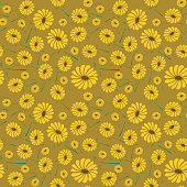 seamless pattern sun flowers background.
