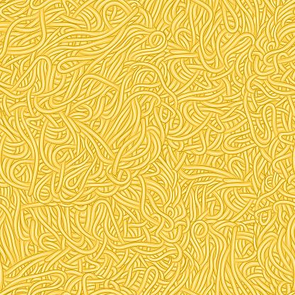 Seamless pattern texture of Spaghetti Pasta, Ramen noodles