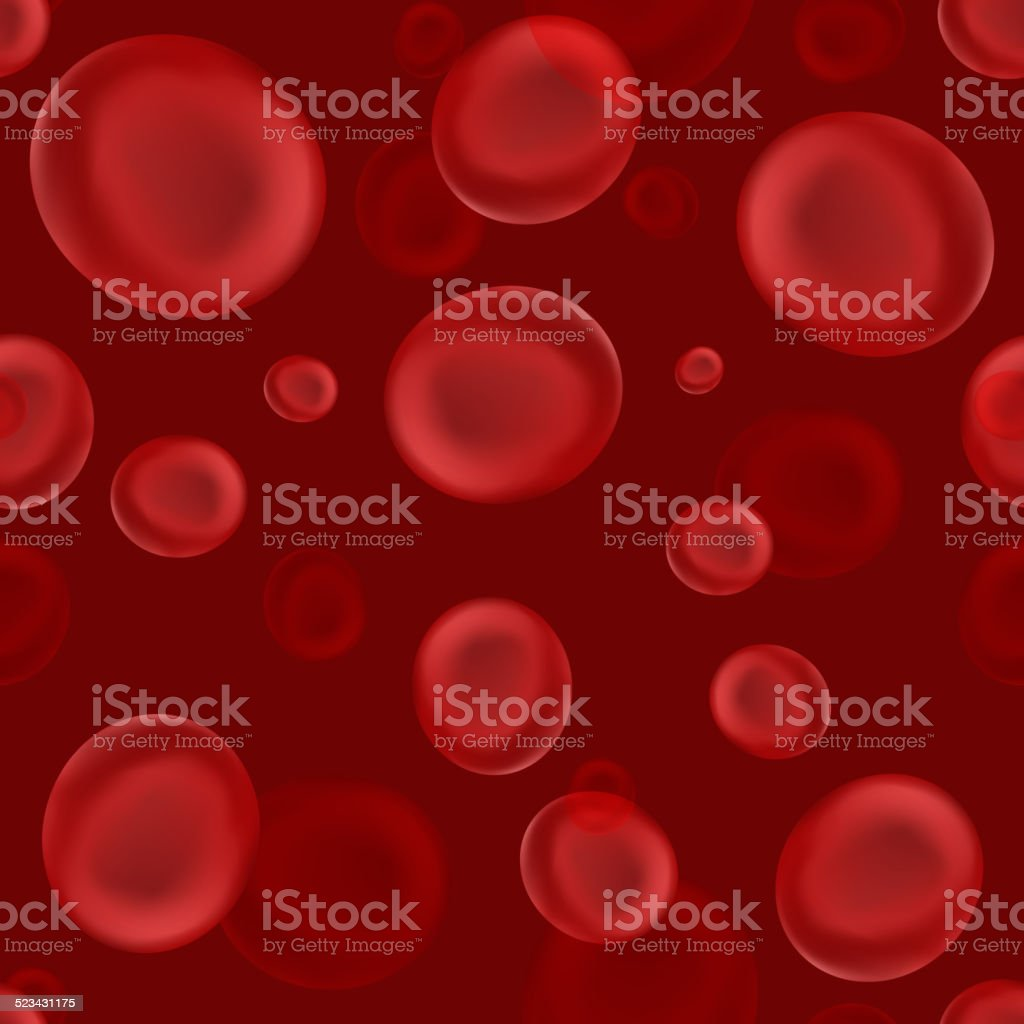 Seamless pattern texture or background with red blood cell vector art illustration