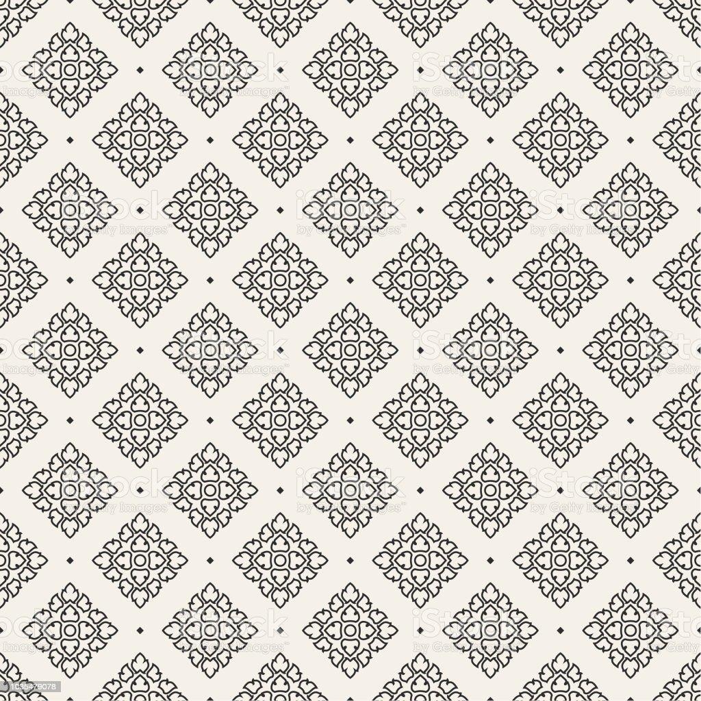 Seamless Pattern Thai art, Background vector art illustration