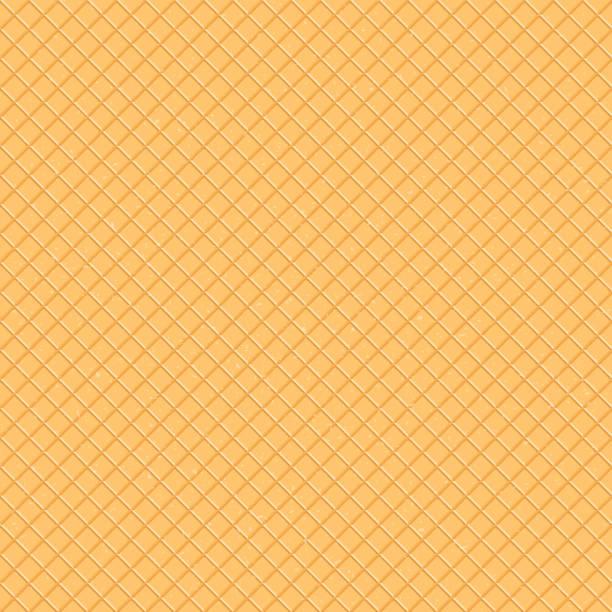 シームレス パターン。ワッフル、アイス クリーム コーンのテクスチャです。漫画の web、サイト、広告、バナー、ポスター、チラシ、名刺のイラスト。ベクトルの図。 - アイスクリーム点のイラスト素材/クリップアート素材/マンガ素材/アイコン素材