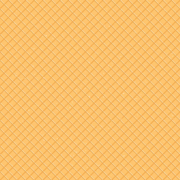 ilustrações de stock, clip art, desenhos animados e ícones de seamless pattern. the texture of the waffle, an ice cream cone. cartoon illustration for web, site, advertising, banner, poster, flyer, business card. vector illustration. - sorvete