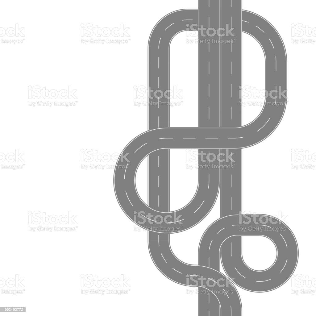 Ilustración de Vista Superior De Patrones Sin Fisuras De Caminos y ...