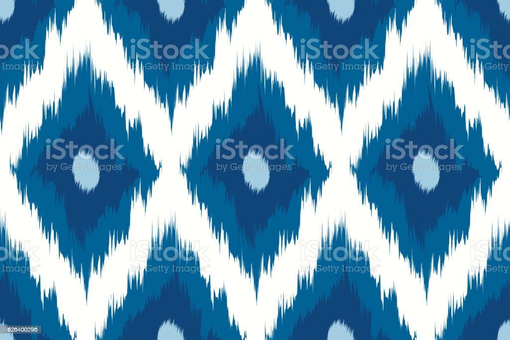 Seamless pattern Tribal Art Ikat vector art illustration