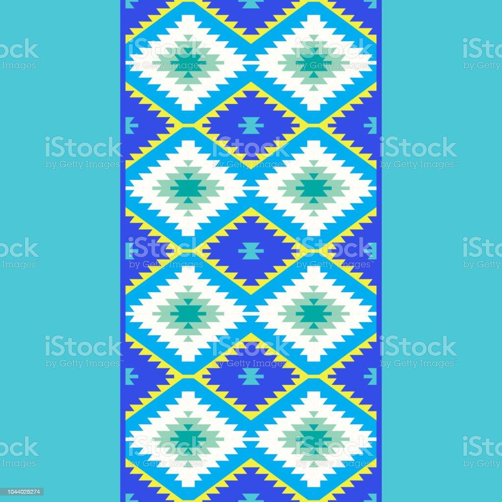 Modele Sans Couture Tapis Turcs Jaune Bleuvert Mosaique Mosaique