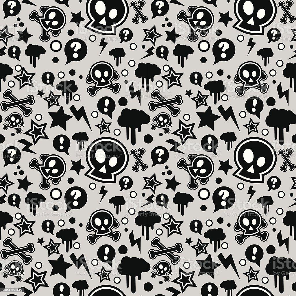 Seamless pattern, urban or punk pop feel vector art illustration